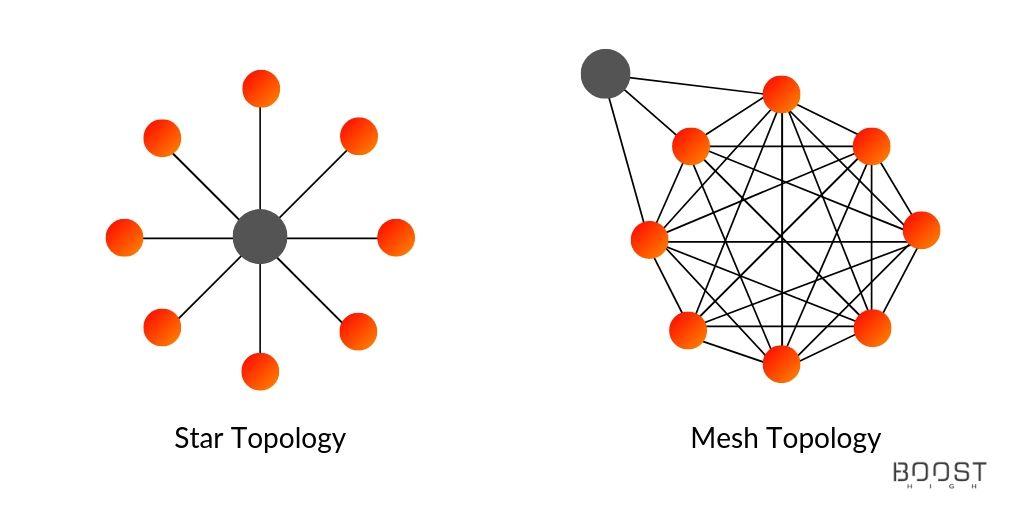 Star Topology vs. Mesh Topology