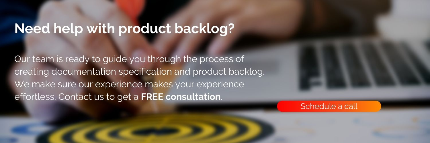 We'll help you create product backlog for your software project